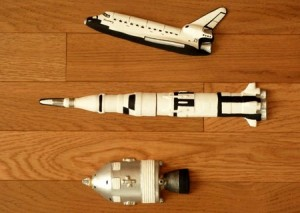 Shuttle, Saturn V and Apollo Command Module