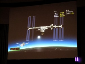 ATV3 Docking about to dock with the ISS