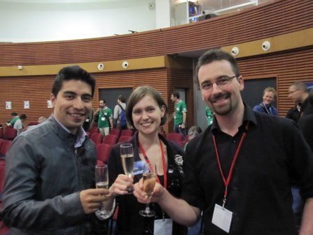 Diego Urbina, Kate Arkless Gray and Romain Charles at CNES