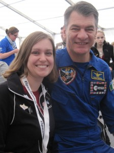 Kate Arkless Gray (@spacekate) and ESA astronuat Paolo Nespoli (@astro_paolo)