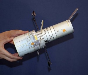Paper Hubble Telescope Model